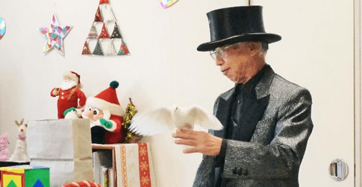 ボランティアのアラジンマジック風間さんのマジックショー